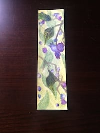 Blueberry watercolor bookmark