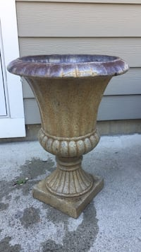 brown and gray concrete vase Kelowna