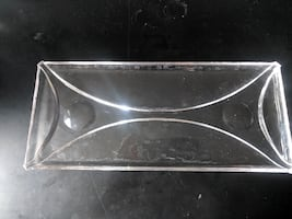 Glass Art Deco Style Serving Tray