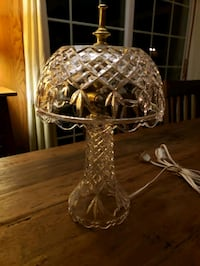 """Lamps (2) crystal 13"""" tall"""