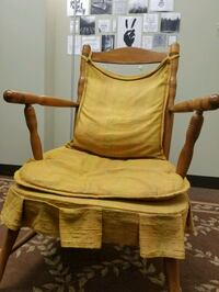 Antique Chair, Wooden, Yellow Cushions  Mechanicsburg, 17055