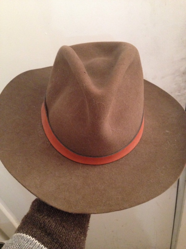 Used Vintage Cowboy Hat Mallory by Stetson 7-7 1 8 Pure Wool Fedora ... e1dc7a34f88