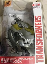 New! Transformers 3D Deco Light Grimlock toy pack