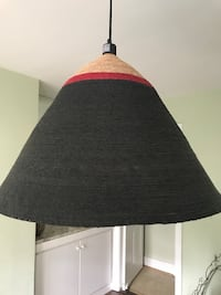Black and red pendant lampshade Washington, 20006