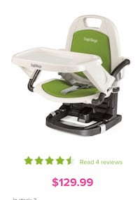 white and green Fisher-Price high chair Vaughan, L4H 0X1