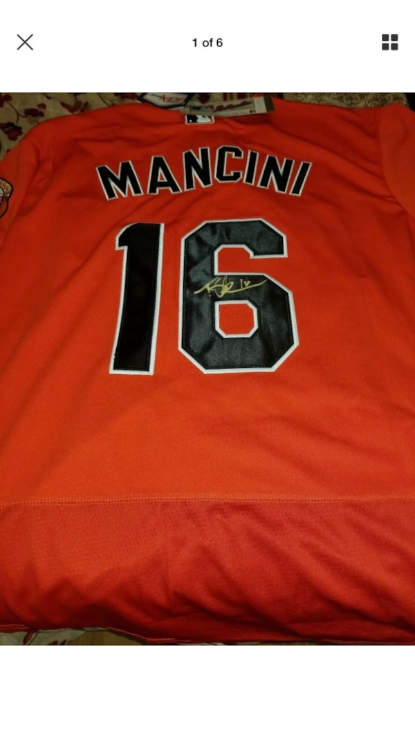 the best attitude 3b0cd d8011 Hand signed Trey Mancini jersey. The jersey is brand new