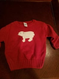 red and white polar bear knitted sweater Pawleys Island, 29585