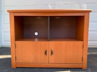 TV Stand - clean lines, cabinet doors w black handles Bowie, 20716