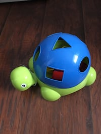 blue and green plastic toy