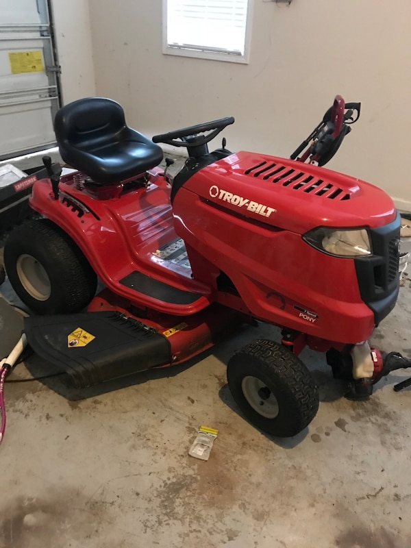 Used Red And Black Troy Bilt Riding Mower For Sale In Jonesboro Letgo