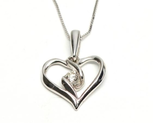 Heart/Diamond Necklace