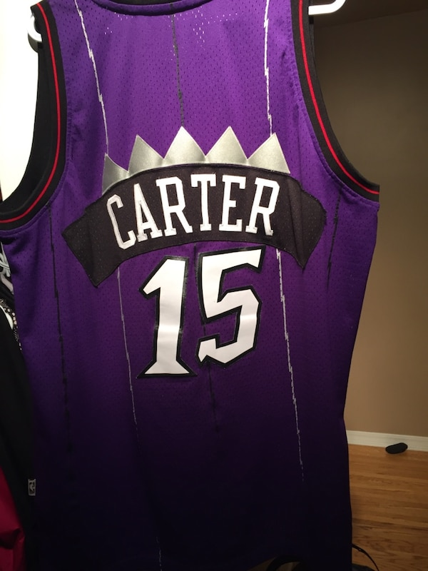 cheap for discount 92c9f db071 Purple and black Toronto raptors jersey