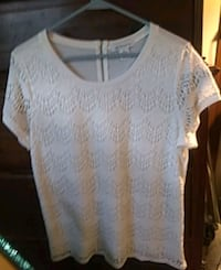 Liz Claiborne shirt Ivory in color. Size large and in very good shape.