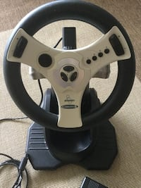 Gray and black steering wheel  Dreamcast racing game controller like new / Love Dreamcast gaming Alexandria, 22311