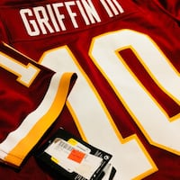 Red, white, and yellow ken griffin iii jersey