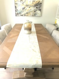 Light brown wooden dining table with hint of gray   chairs not included Bradford West Gwillimbury, L3Z 0S5