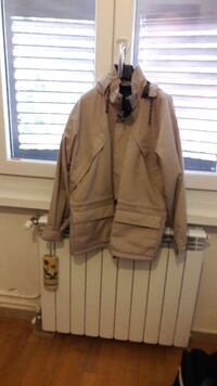 giacca invernale beige