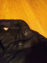 black leather zip-up jacket 3558 km
