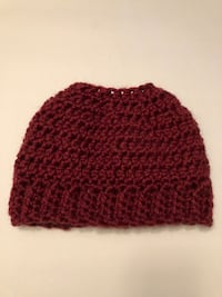 Hand Crocheted Messy Bun Hat 51 km