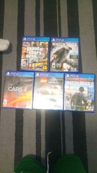 four assorted PS4 game cases Ottawa, K1N 5N5