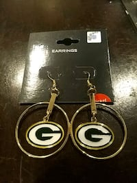 Green Bay Packers hoop logo earrings Great Mills, 20653