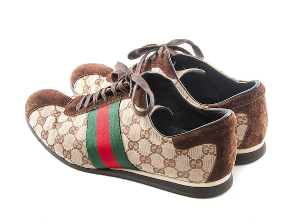 278bc5def 1/4. 1/4. Tap to see more pictures. Swipe to see more info. AUTHENTIC GUCCI  MENS GG LOGO GUCCISSIMA 117711 SHOES
