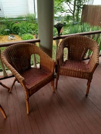 Wicker chairs two matching Elgin, 60120