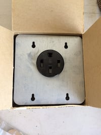 Flush Range Receptacle Mounted Cover Plate
