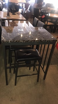 Faux Marble Top Table With Stools  Phoenix, 85018