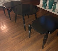 Table set coffee table 2 end tables black In color whole set for 60.00 Montgomery, 36107