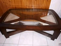 Solid  wooden framed glass top coffee table London, N6J 2N7