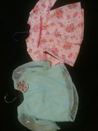 Babygirl Clths. Turquoise Blouse 3-6 ms Pink 9 ms  Orange, 92866