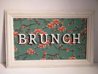 Cartel BRUNCH madera Barcelona, 08003