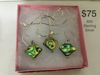 925 Sterling Silver Necklace And Bracelet Set, Excellent Condition Chesapeake, 23320
