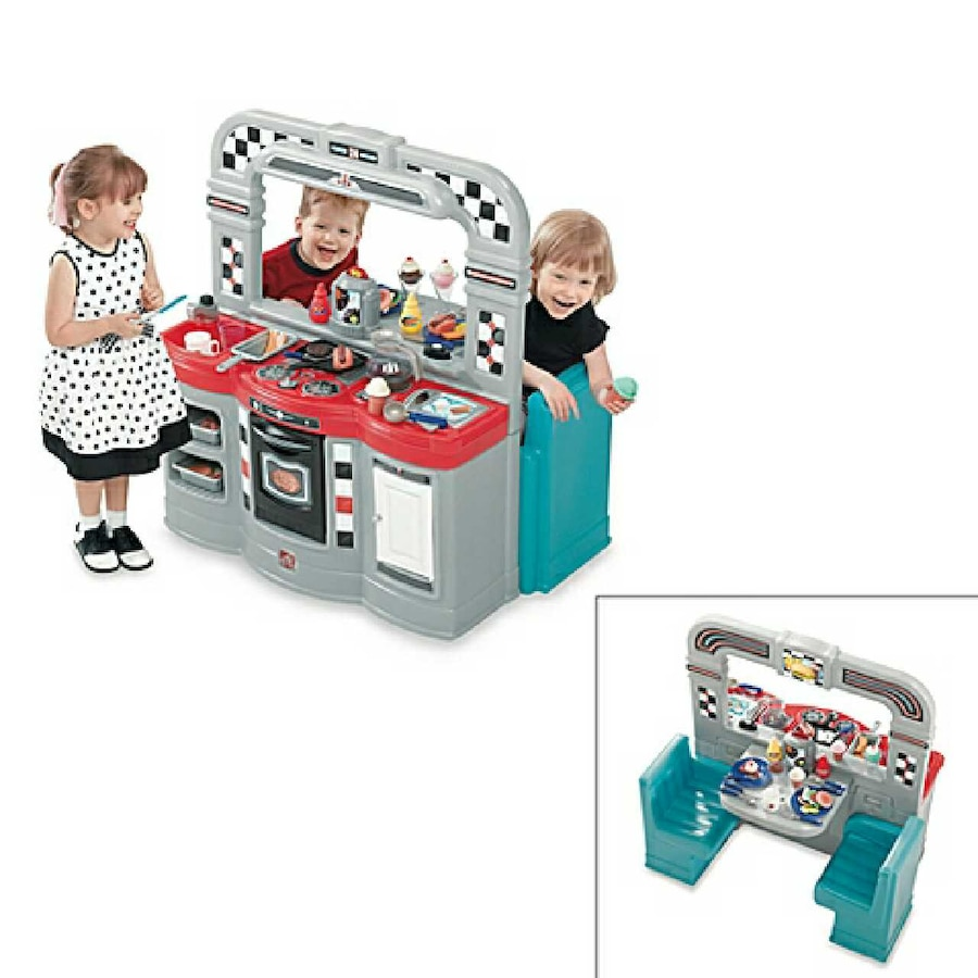 Used Step2 Retro 50\'s Diner & Kitchen Playset in Bel Air