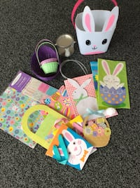 8-Easter Gift Bags/5-Baskets/& Wrap Paper