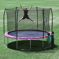 Skywalker Trampolines 12-Feet Round Trampoline and Enclosure with Spring Pad Dallas, 75243