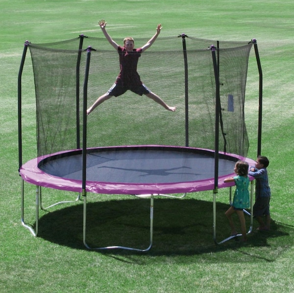600c68a4a7ad1 Used Skywalker Trampolines 12-Feet Round Trampoline and Enclosure with  Spring Pad for sale in Dallas - letgo