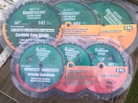 "Selection of brand new contractor 10"" saw blades Edmonton, T6L 4P9"