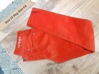 THE GAP 1969 PANTS 25/0 REG SLIM FIT MID WAIST (red orange) Toronto, M6B 2A2