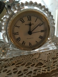 "Irish crystal clock by ""Shannon"" $25 obo"