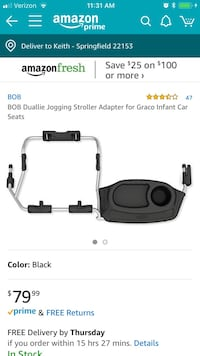 Bob Double Stroller Infant Car Seat Adapter Springfield, 22153
