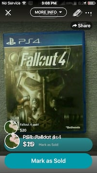 PS4 fallout 4 London, N6J 2Z4