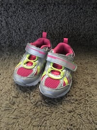 pair of gray-and-pink Nike running shoes Grande Prairie, T8W 0G4