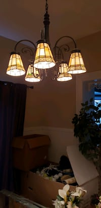 Genuine Victorian lighting and matching sconce