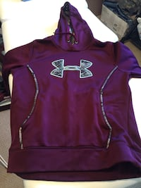 Purple Under Armour pullover hoodie