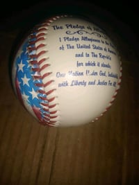 Baseball Hologram American Flag/Pledge of Allegian Hampton, 23666