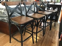 New Set of 4 Black & Brown Barstools  Virginia Beach, 23462