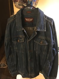 MENS DENIM JEAN JACKET SIZE XL
