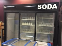 Commercial 3 glass door refrigerator. Restaurant equipment Las Vegas, 89109
